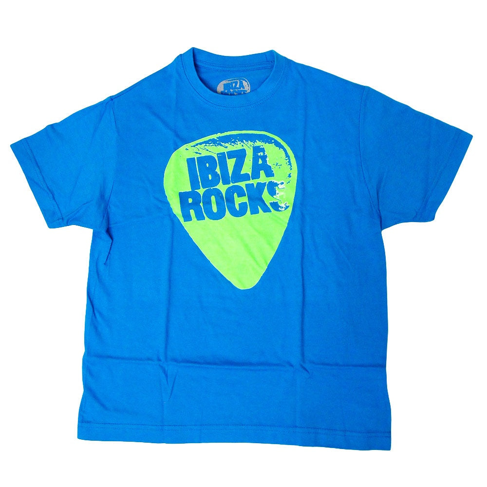 Ibiza Rocks Plectrum Kids Blue T-shirt