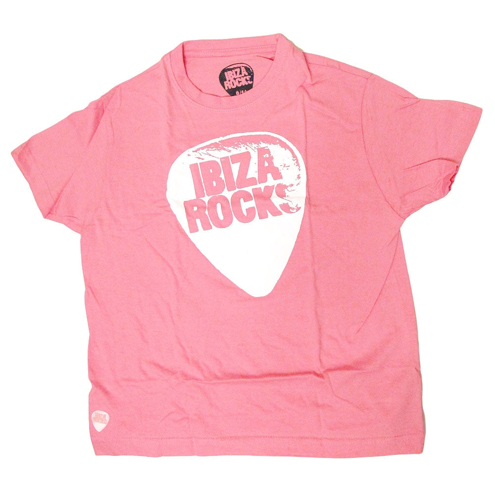 Ibiza Rocks Plectrum Kids Pink T-shirt