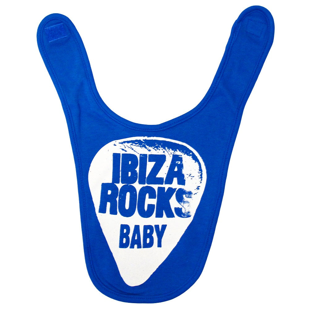 Ibiza Rocks Plectrum Blue Baby Bib