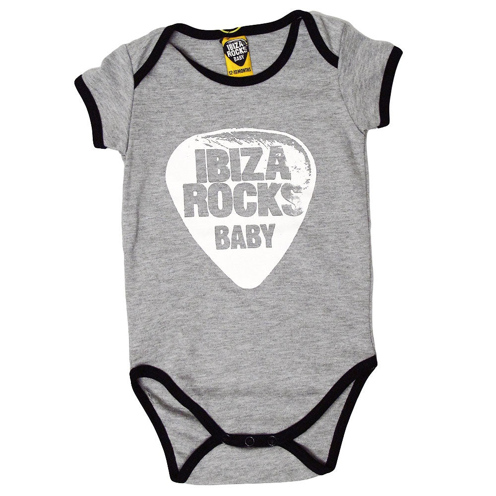 Ibiza Rocks Contrast Baby Grow