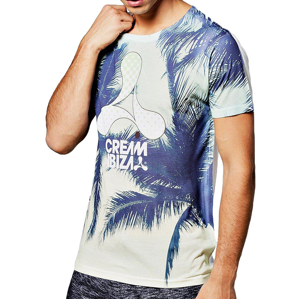 Cream Ibiza T-shirt homme Palmiers verts