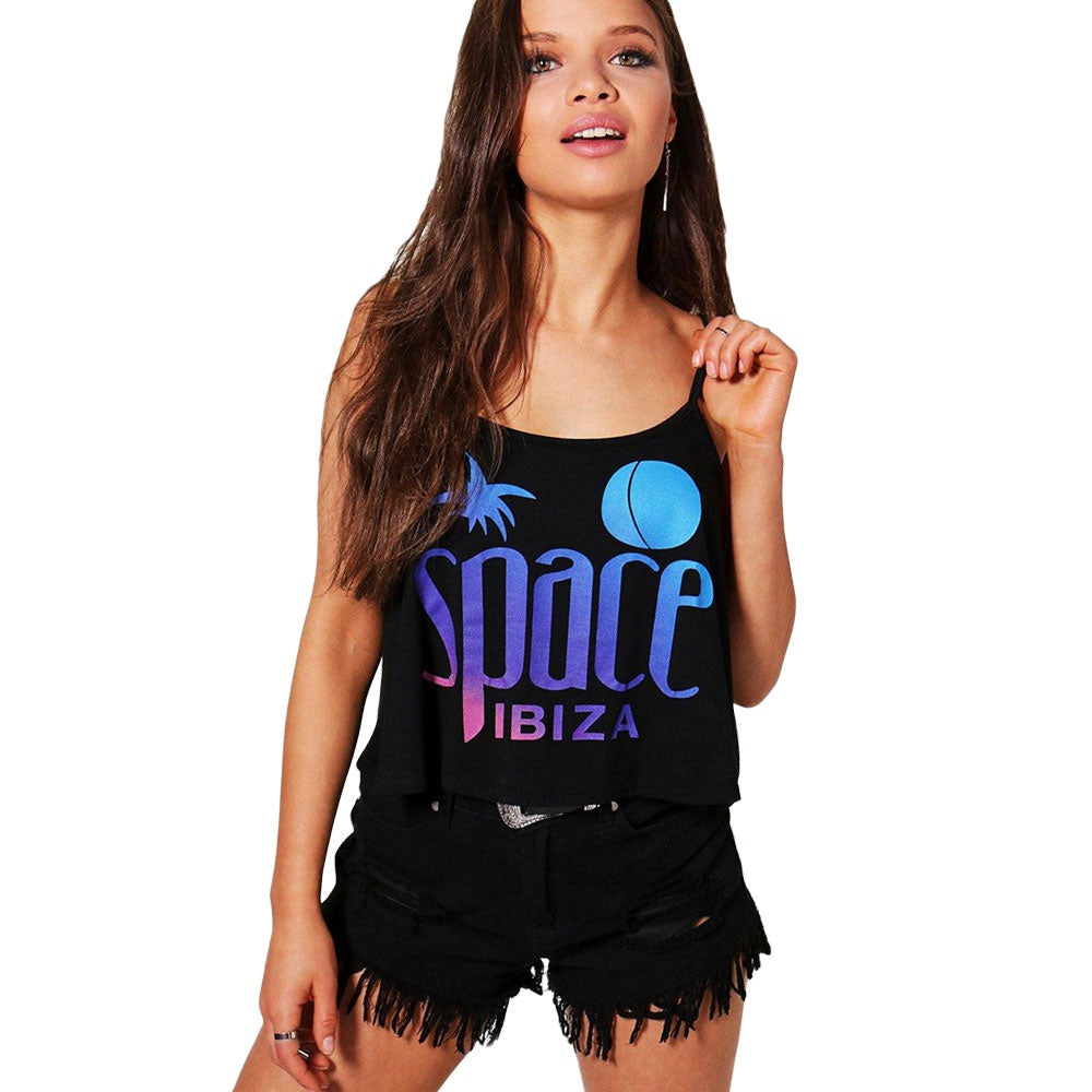 Space Ibiza Logo Women's Cami Crop Top