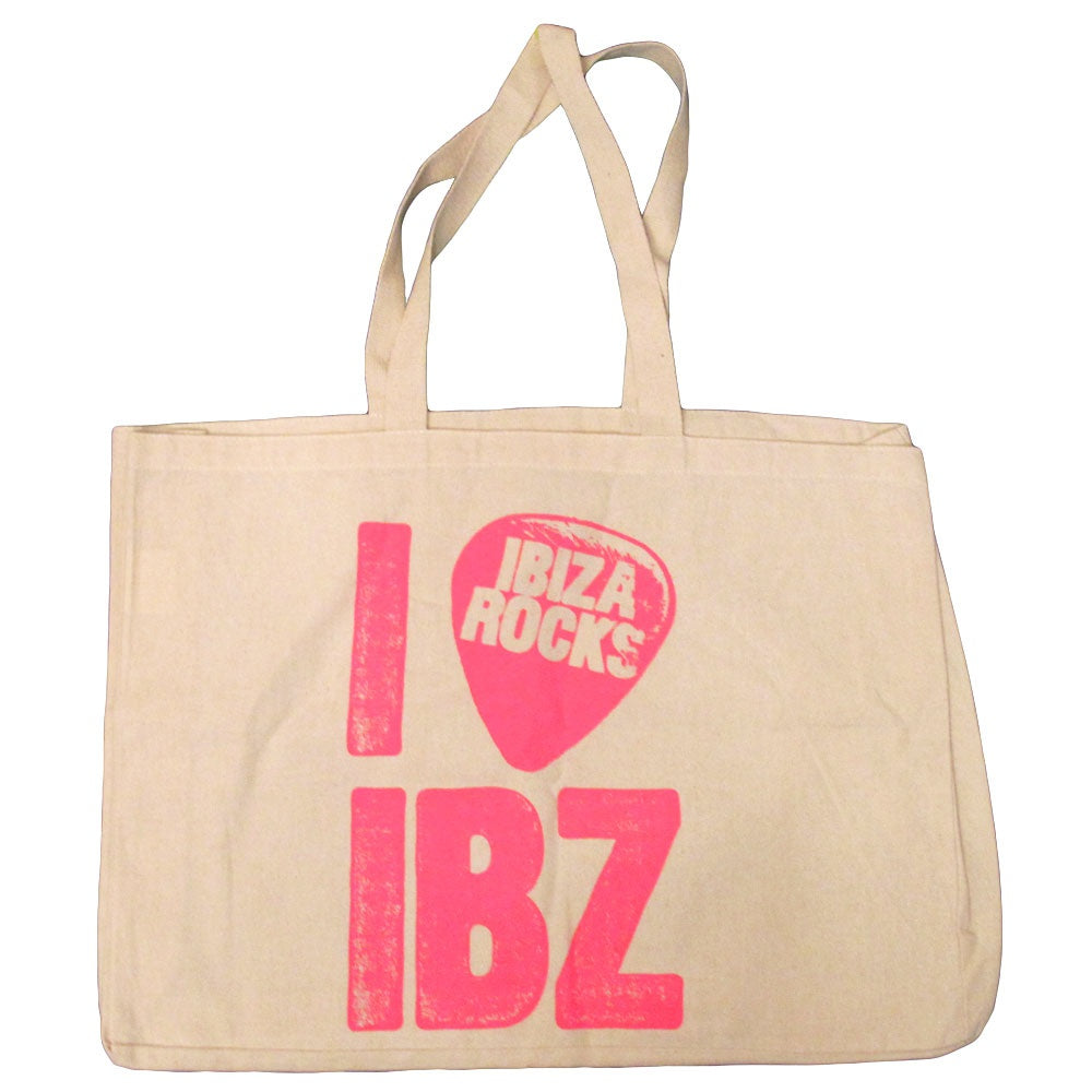 Ibiza Rocks Large Canvas Tote Beach Bag