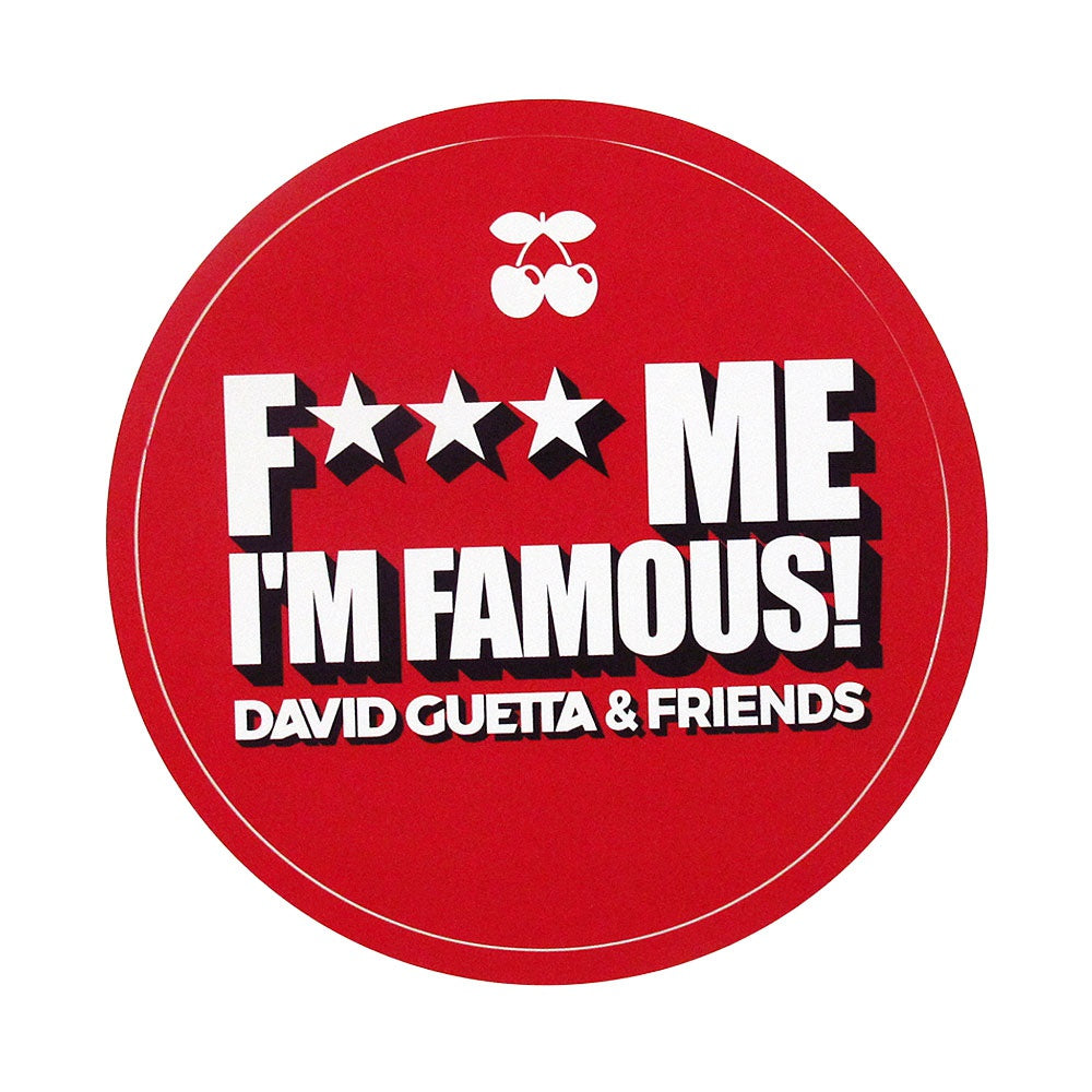 Pacha Ibiza Aufkleber F*** Me I'm Famous David Guetta and Friends 2017