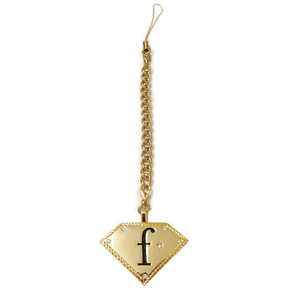 FashionTV Gold Keyring with Diamante