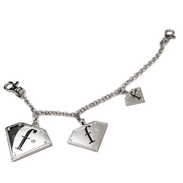FashionTV Silver Belt Charm with Diamante