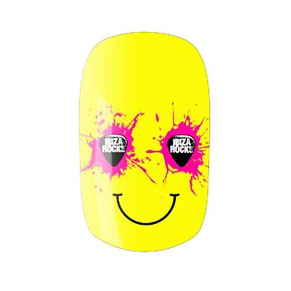Ibiza Rocks Smiley Nail Wraps