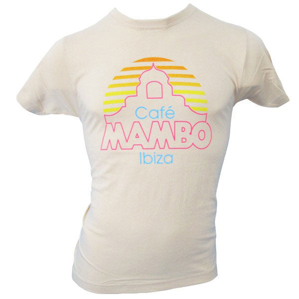 Cafe Mambo Ibiza New Logo Cream Men's T-shirt