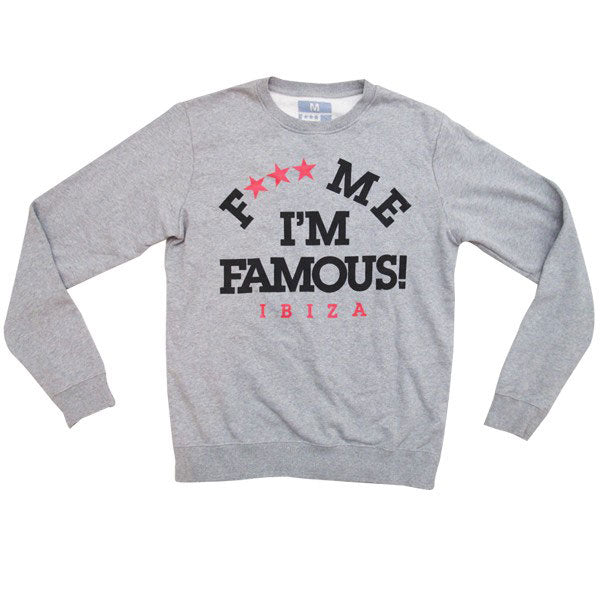 David Guetta F Me I'm Famous Ibiza Athletics Logo Sweatshirt
