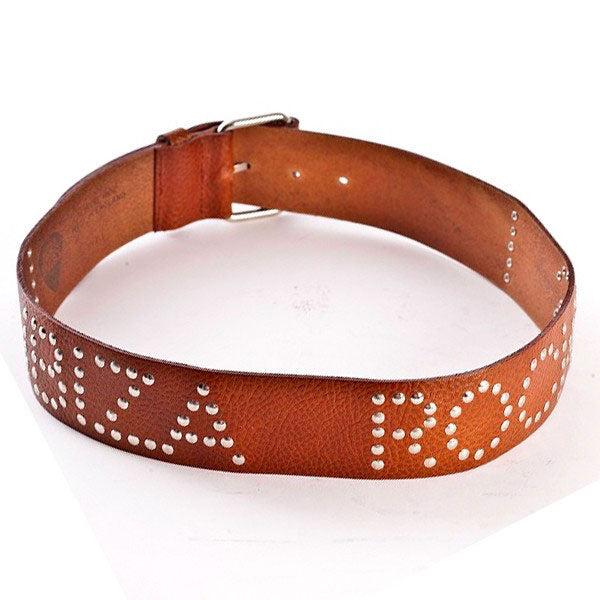 Ibiza Rocks Studded Tan Leather Belt