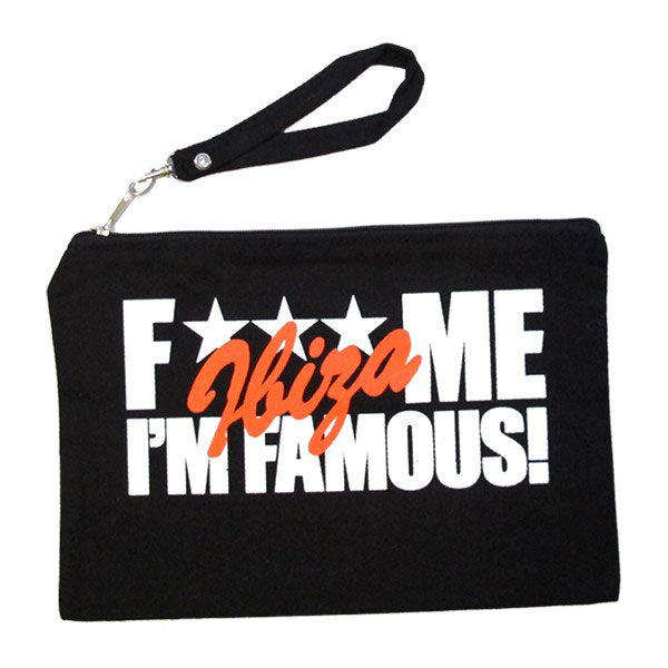 David Guetta F Me I'm Famous Ibiza Denim Cosmetic Bag