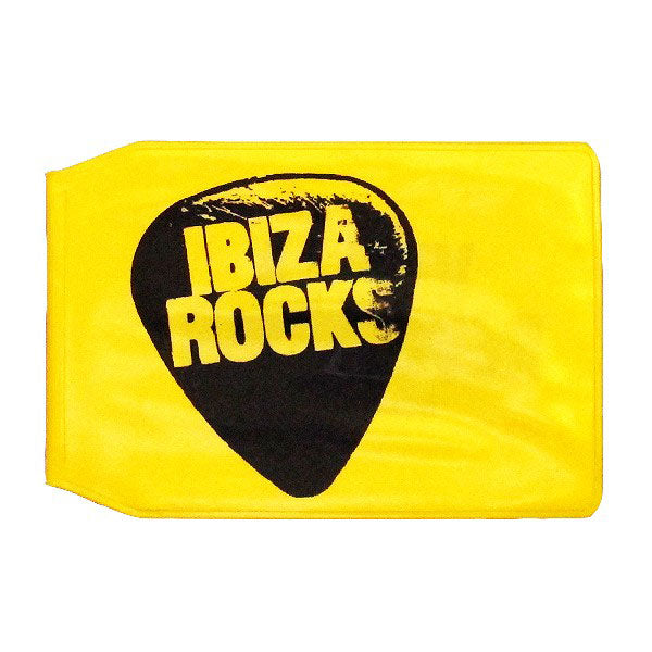 Ibiza Rocks Couverture Plastique de la Carte Jaune