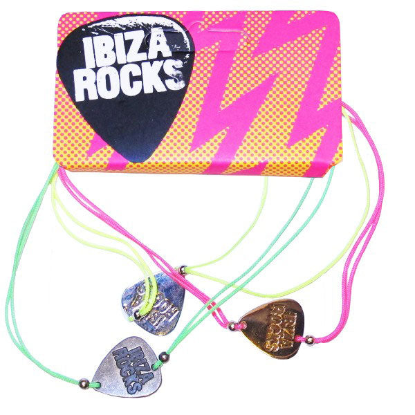 Ibiza Rocks Plectrum String Bracelet (3 Pack)