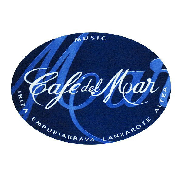 Cafe Del Mar Blue Logo Sticker