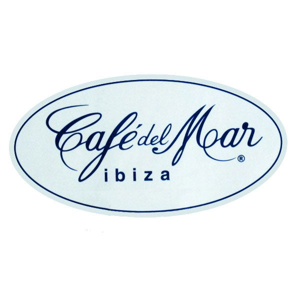 Cafe Del Mar White Logo Sticker CDM25801W-FI