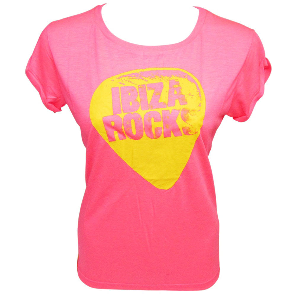 Ibiza Rocks Open Back Loose Fit Neon T-Shirt