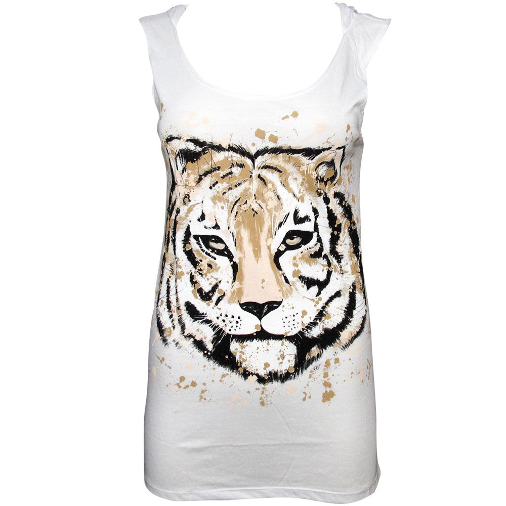 Zoo Project Tiger Hooded Open-back Dress