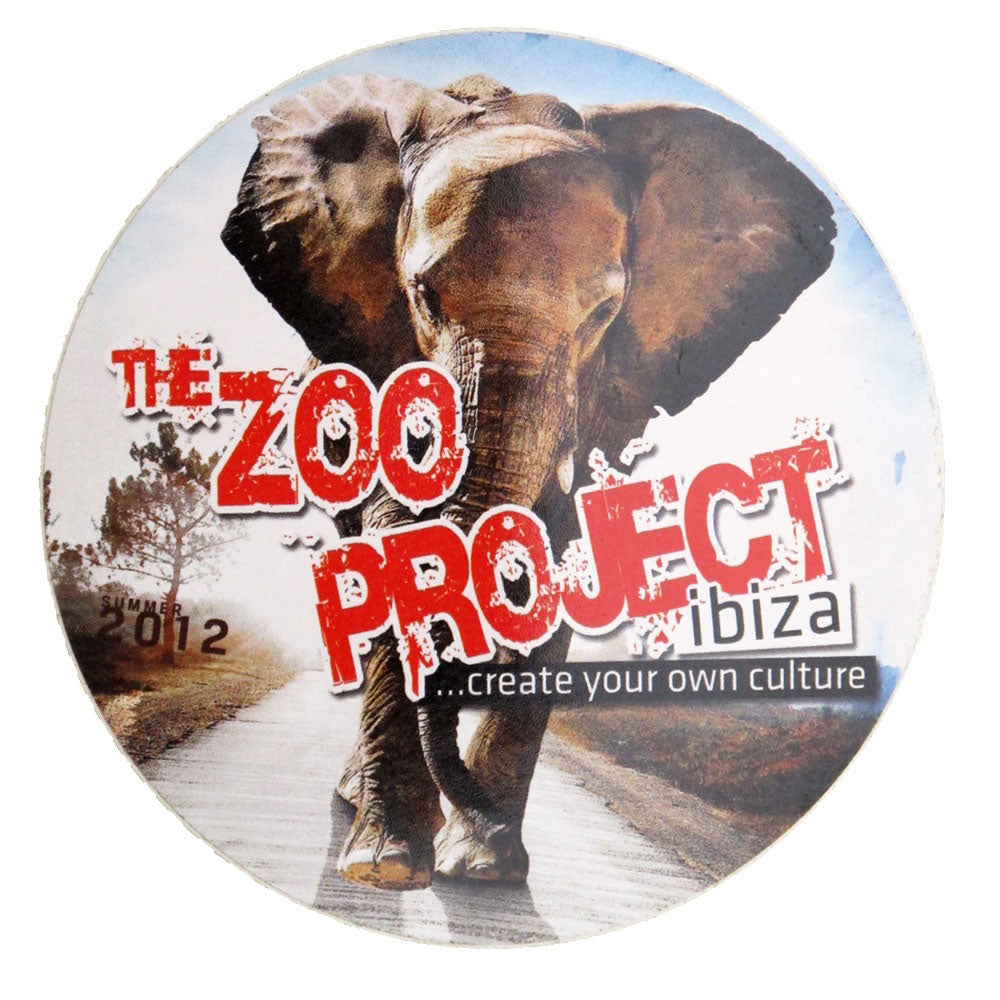 Zoo Project Ibiza Elephant Aufkleber 2012