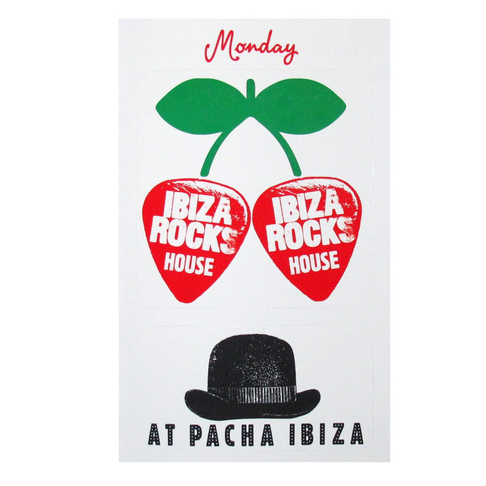 Pacha Ibiza Rocks House 2014 Sticker Set