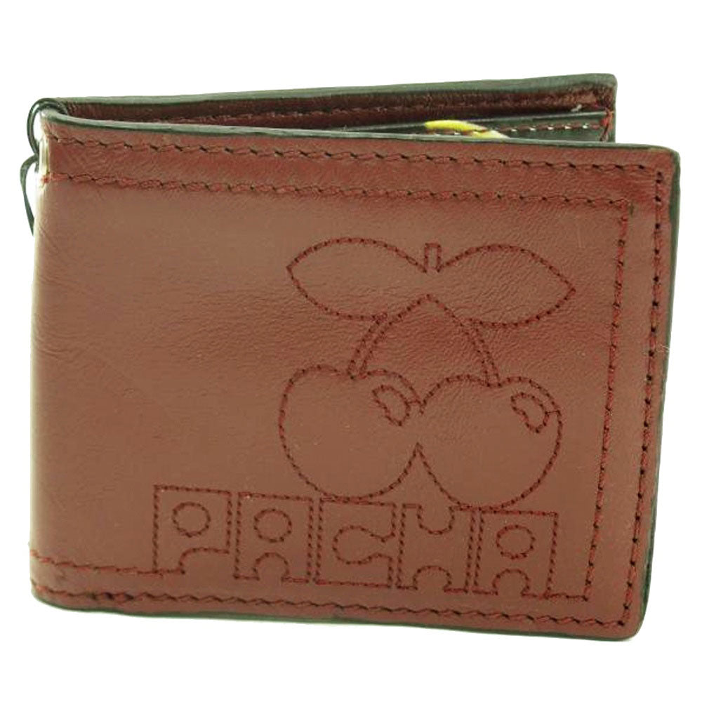 Pacha Brown Stitch Cherry Faux Leather Wallet