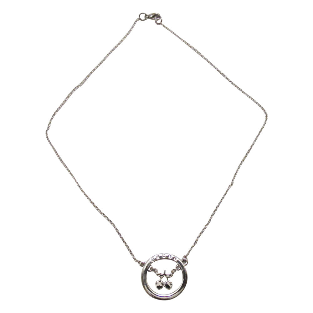 Pacha Silver Disc Cherry Necklace