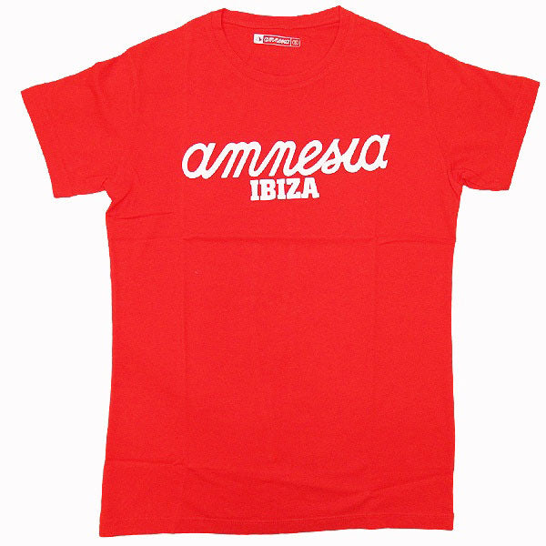 Amnesia Ibiza Classic Logo Men's Red T-Shirt