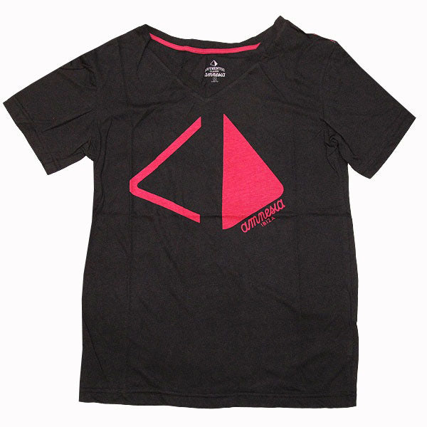 Amnesia Ibiza Pyramid Cut Men's Black V-Neck T-shirt