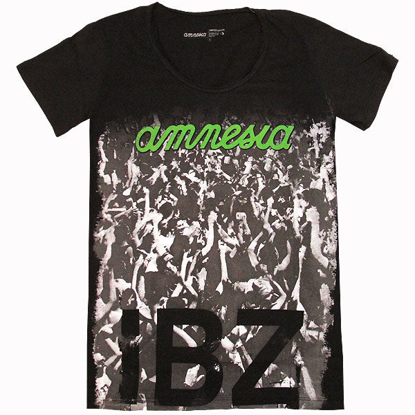 Amnesia Ibiza Nightclub Men's Black T-shirt