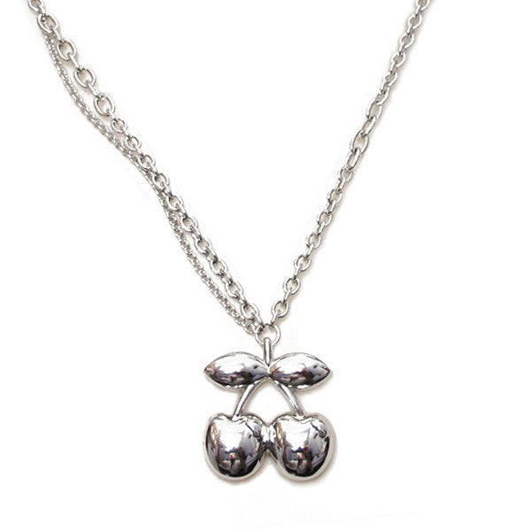 Pacha Large Cherry Pendant Silver Necklace