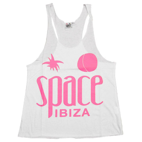 Space Ibiza Native Logo Women's White Tanktop