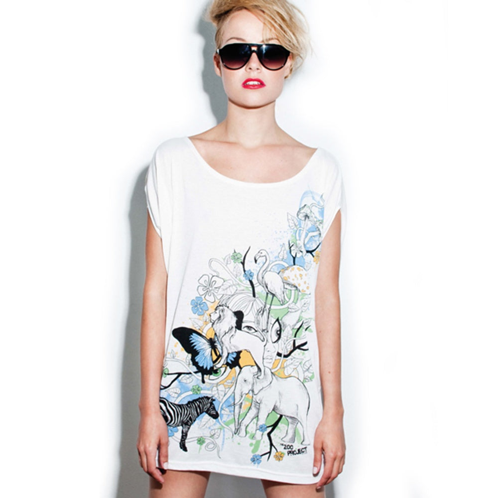 Zoo Project Zoo You Jungle White Loose Fit Dress