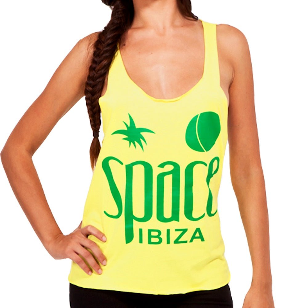 Space Ibiza Native Logo Women's Yellow Tanktop