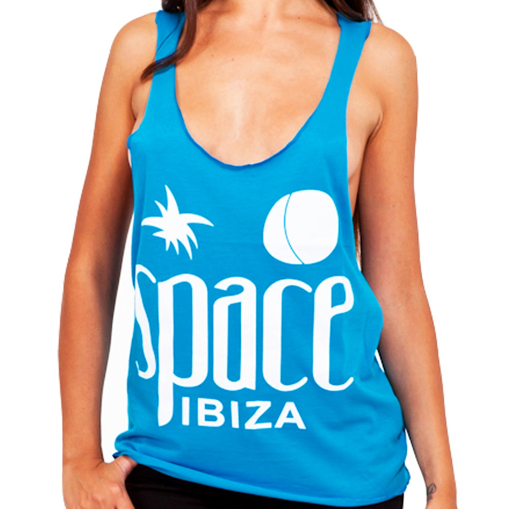 Space Ibiza Native Logo Women's Turquoise Tanktop