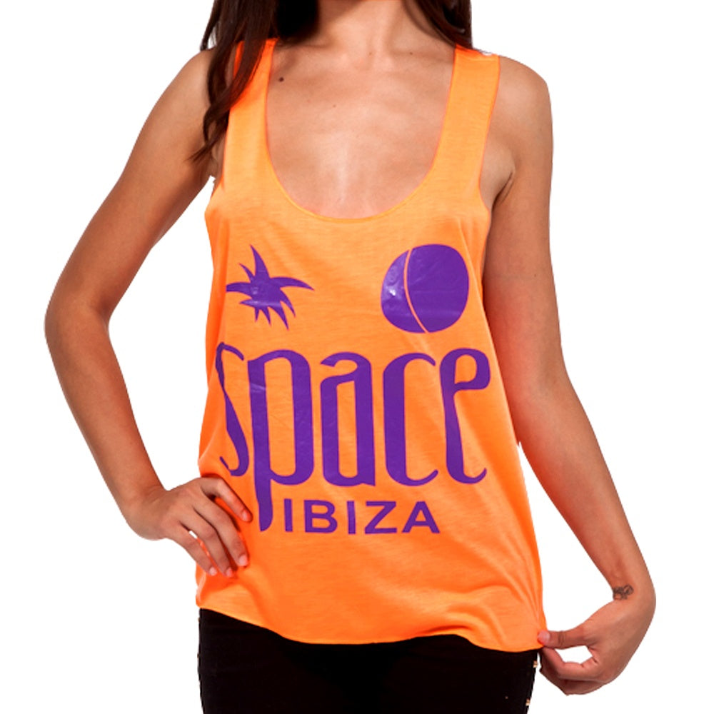 Space Ibiza Native Logo Women's Orange Tanktop