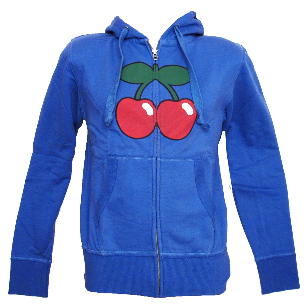Pacha Basic Cherry Logo Men's Blue Zip up Hoodie