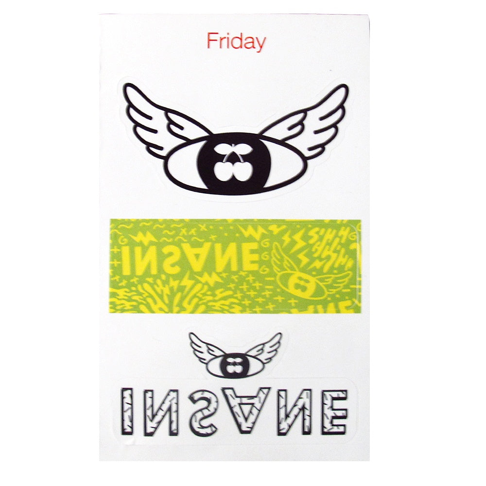 Pacha Insane 2015 Sticker Set