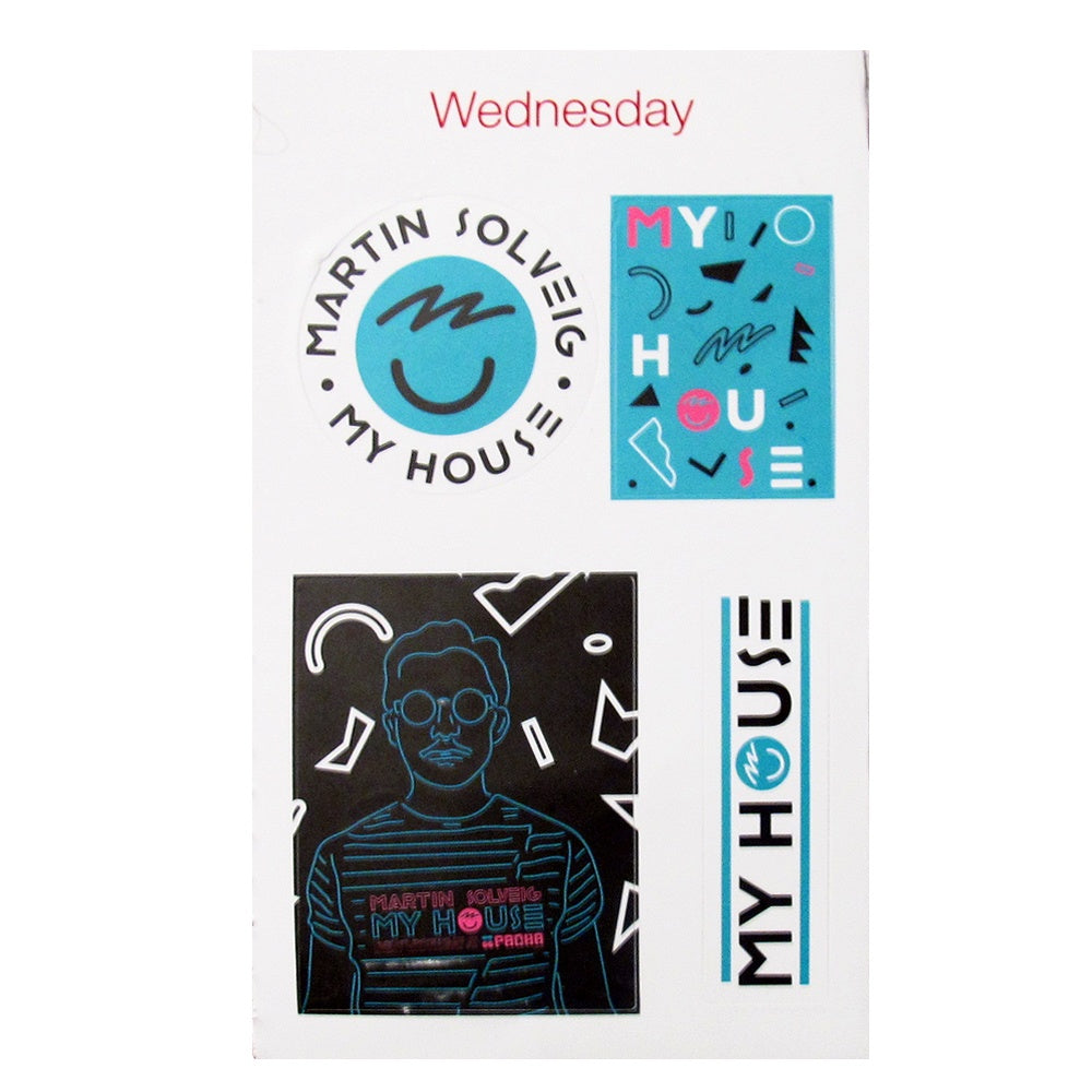 Pacha Martin Solveig My House 2015 Sticker Set