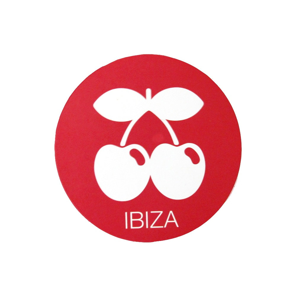 Pacha Ibiza Cherries Logo Red Sticker