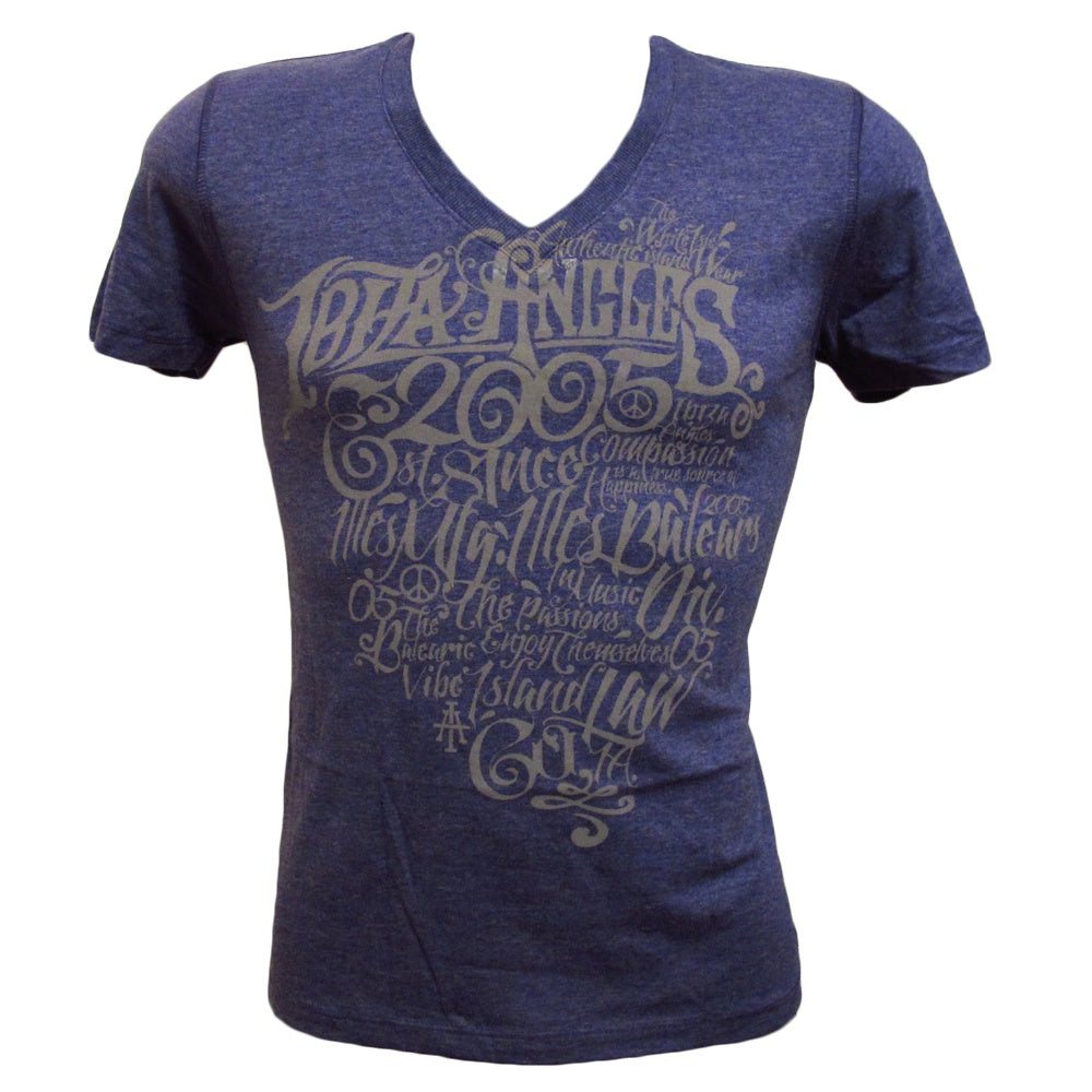 Ibiza Angels Gothic Heart Men's Navy T-Shirt