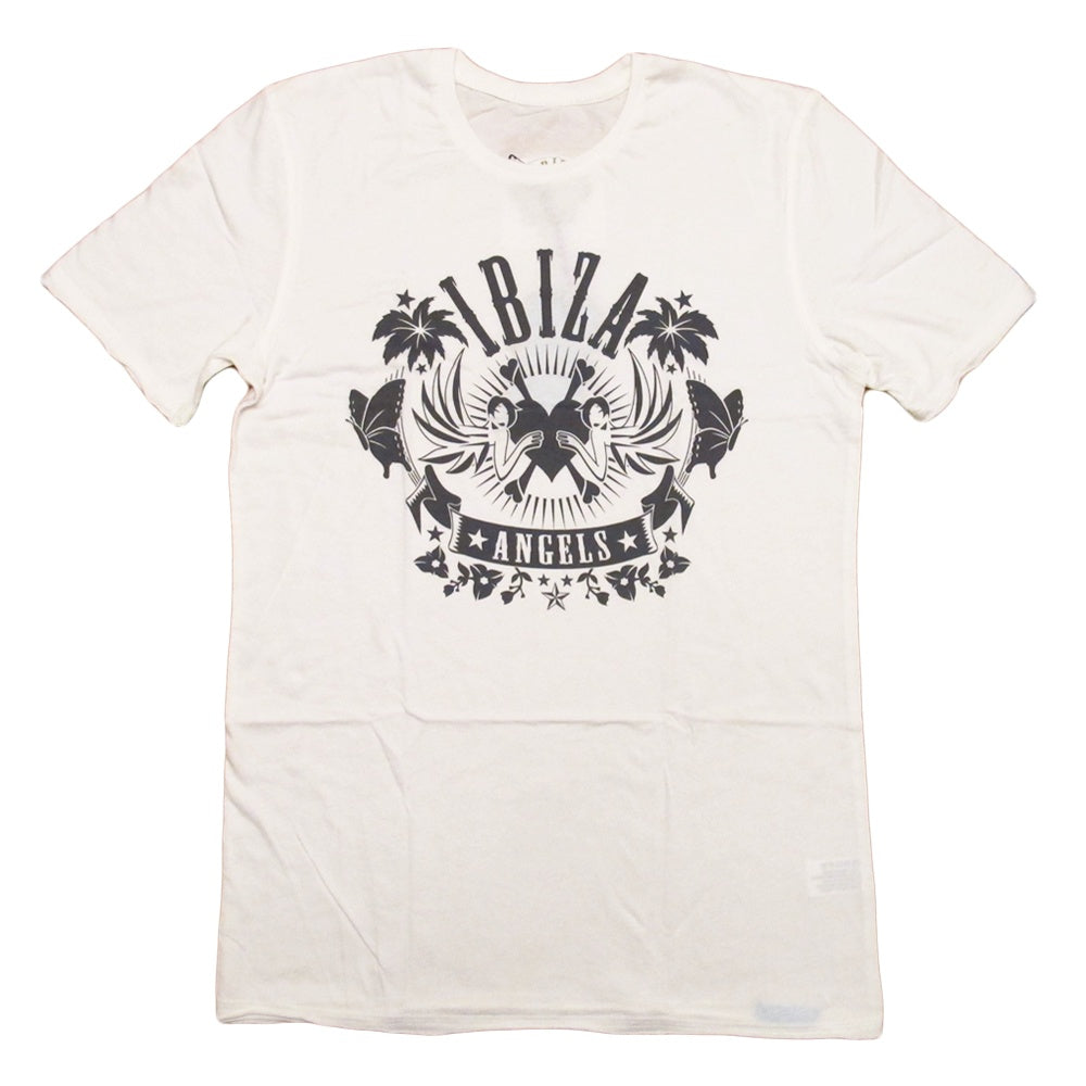 Ibiza Angels Classic Logo Cream Men's T-Shirt