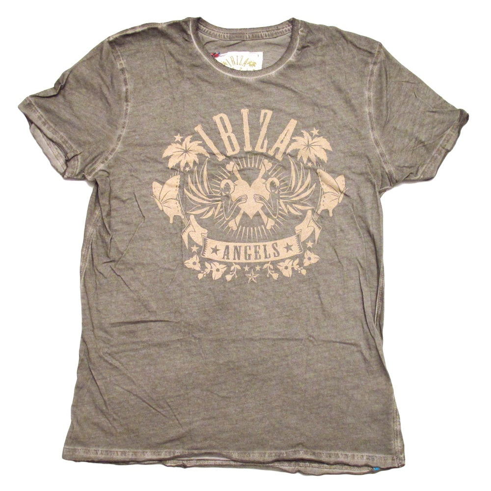 Ibiza Angels Classic Logo Men's Brown T-Shirt
