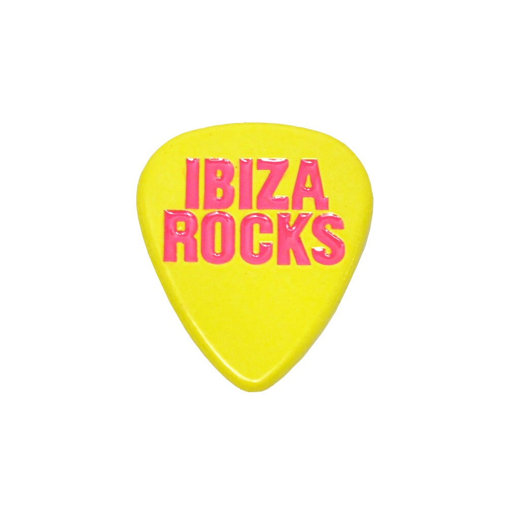 Ibiza Rocks Plectrum Metal Fridge Magnet