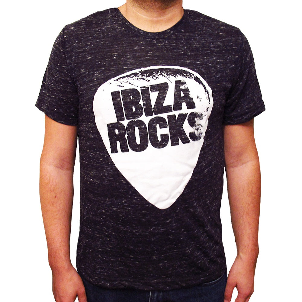 Ibiza Rocks Black Marbled Men's Logo T-Shirt