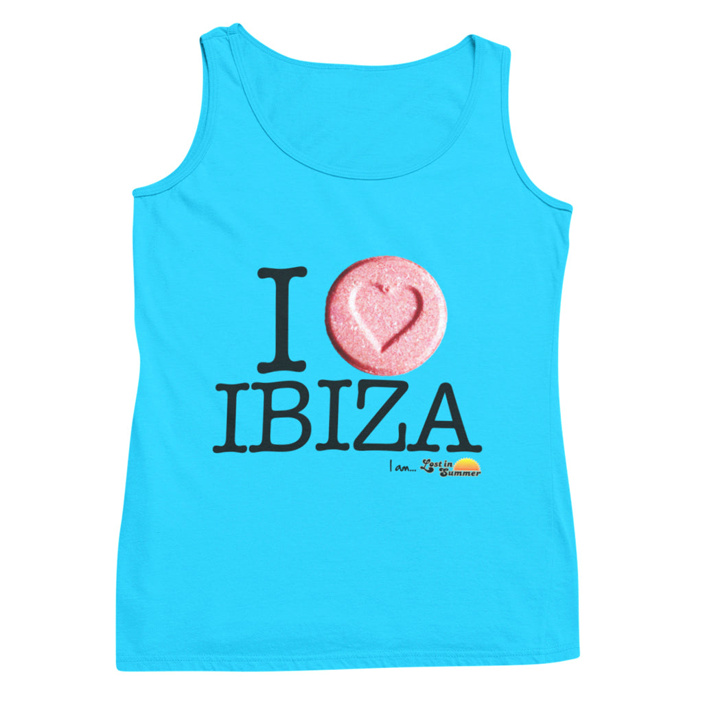 I Love Ibiza Men's Neon Tank Top