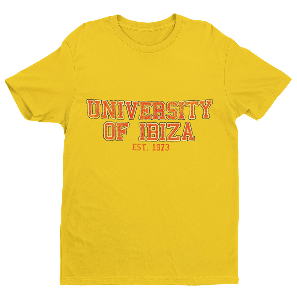 University of Ibiza T-shirt Homme à Logo Vintage