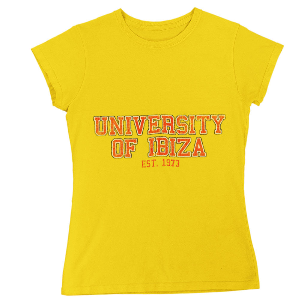 University of Ibiza Women's T-shirt Vintage Logo