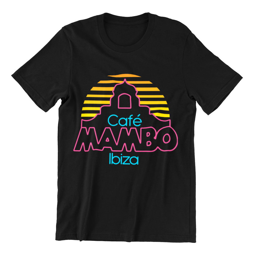 Cafe Mambo Ibiza Logo Men's Black T-shirt