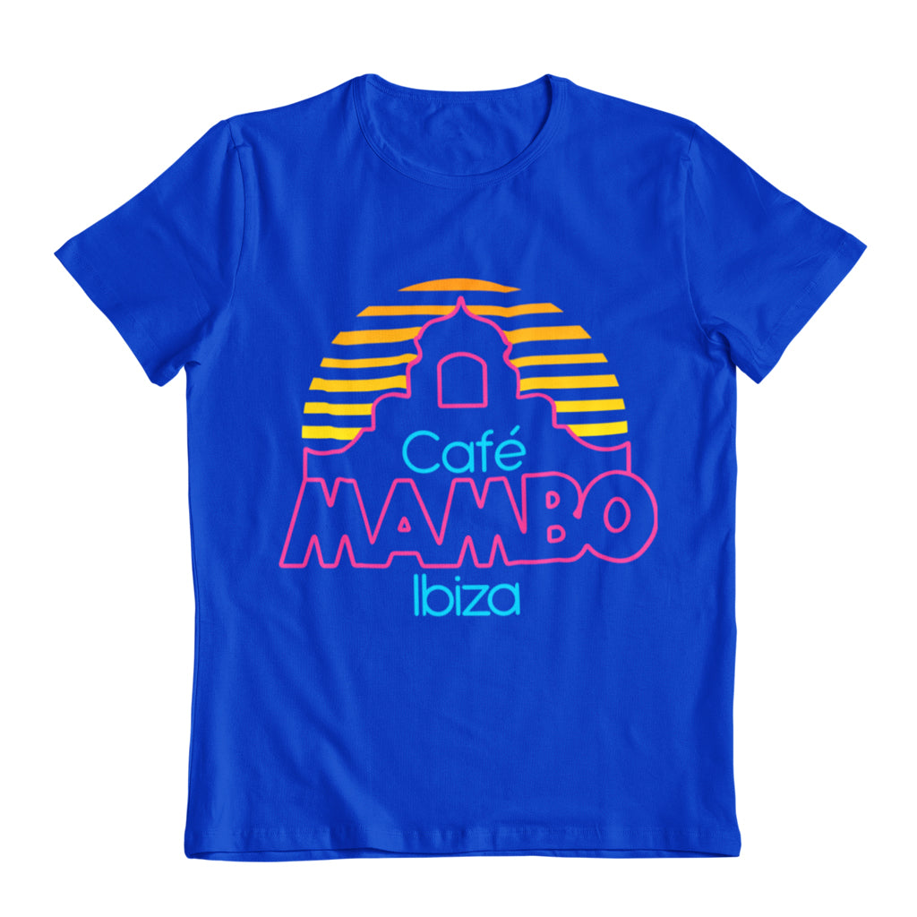 Cafe Mambo Ibiza Logo Men's Blue T-Shirt