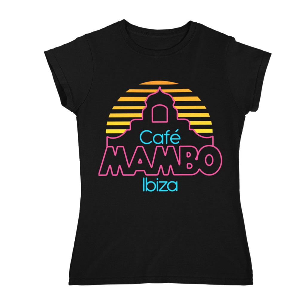 Cafe Mambo Ibiza Logo Women's Black T-shirt