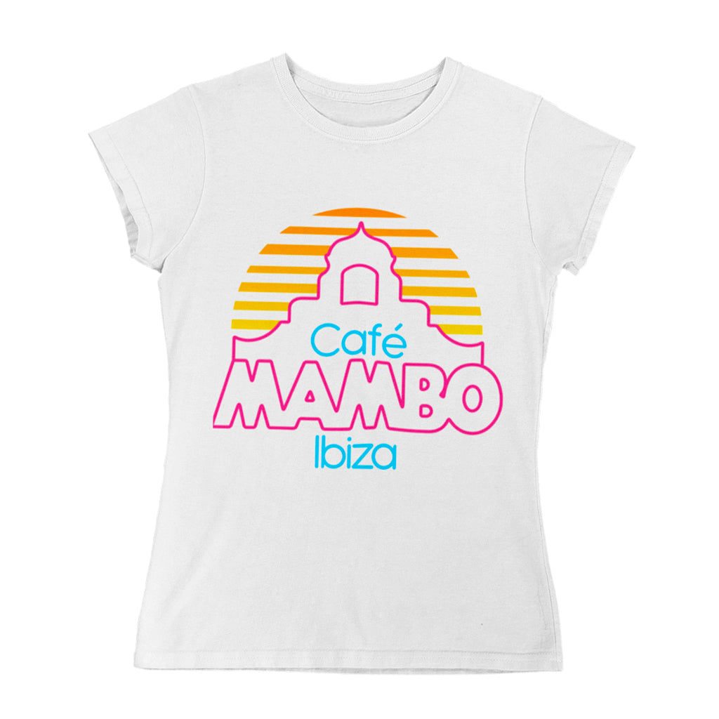Cafe Mambo Ibiza Logo Women's White T-shirt